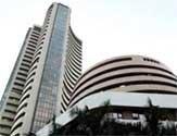 Sensex down 57 points