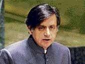 Talks with Pak not at gunpoint, says Tharoor