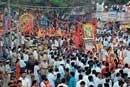 Datta procession peaceful