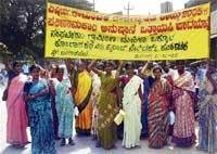 Protest rally held for women's cause