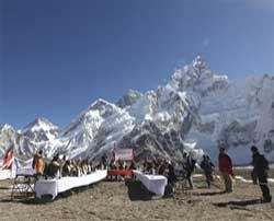 A Cabinet meet at Everest foot