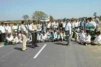 Road obstructing movement?