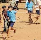 Rural games enthrall children, elders