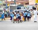 School kids' life, limb at peril