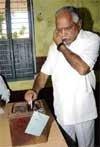 CM talks while voting