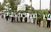 Farmers protest illegal mining