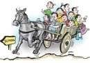 Riding their way to school