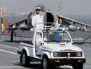 After Sukhoi, Prez's day out at sea in aircraft carrier Viraat