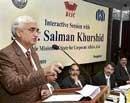 Media should act as watchdog, says Khurshid
