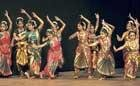 Elaborate movements on stage