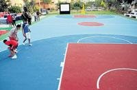 Basketball courts synthetic joy