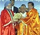 Ex-ISRO chief  honoured