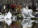 US cargo plane crashes into river, two killed