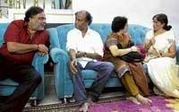 Rajnikanth visits Vishnu's home