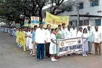 Students, health workers take out awareness jathas