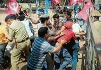CPM stages protest for ration