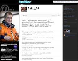US astronaut Timothy Creamer sends first 'tweet' from space