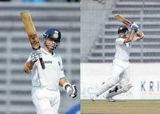 Dravid, Tendulkar turn on the style