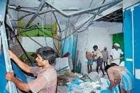 MCC demolishes 8 illegal basement shops in complex