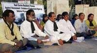 Residents protest road block