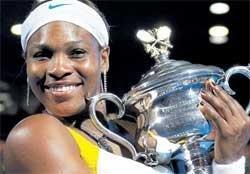 Serena's high five in Melbourne