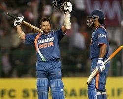 Super Sachin scripts India's stirring win