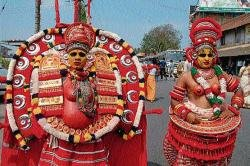 Art troupes add colour to procession