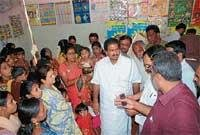 ZP chief inspects quality of food in anganwadi centre
