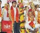 Gujarat BJP president weighed with party workers' blood