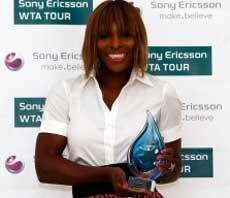 Serena Williams named WTA's top player for 2009