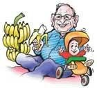 Britain's oldest father goes bananas