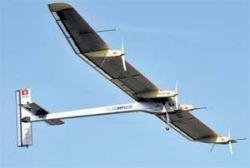 Solar plane takes off on test flight