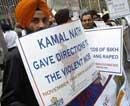 Sikhs protest against Kamal Nath in New York