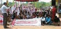 DYFI protest against hike in water tariff