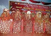 33 couples take marriage vows in Madikeri