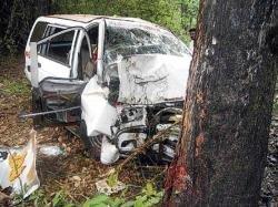 SUV rams into tree, three die