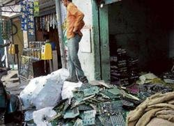Garage recyclers of e-waste are the new threat