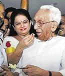 Karunakaran names his daughter political heir