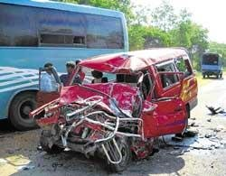 Four from family killed in mishap