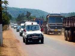 Ore dust covers Goa Governor's vehicle