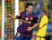 Messi brace powers Barca