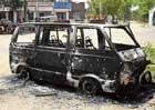 Van torched in political rivalry