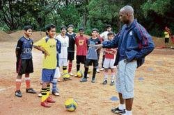 Getting a 'kick' out of training kids