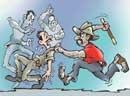 Drunk youths thrash cops, held, freed