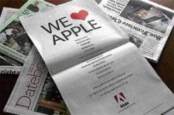 Adobe strikes back at Steve Jobs in war with Apple