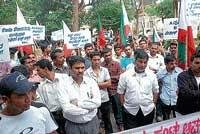PFI stages protest to seek ban on Sri Ram Sene