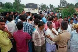 Villagers take police to task