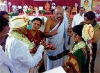 Mass marriage at Horanadu temple