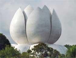 91-foot high 'Lotus of peace' blooms in Santhigiri Ashram
