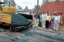 Raja Seat park road works begin